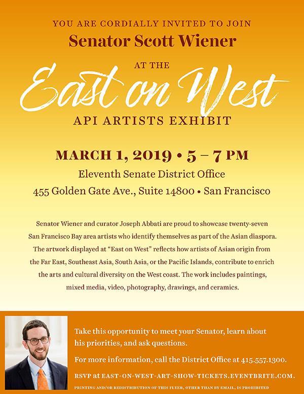 Events   Senator Scott Wiener
